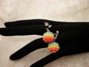Rainbow Pride Awareness Beaded Studded Surgical Steel Earrings