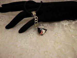 3 D Resin Cute Fish Whale Charm Pendant Black Corded Bail Necklace