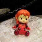 """Resin 3 D Kewpi Doll Charm """"BAMBI"""" Pendant Cord Pendant Necklace Kids Jewelry"""