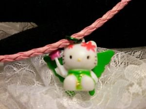 Sanrio Hello Kitty Resin 3D Charm Butterfly Winged Pink Corded Pendant Necklace