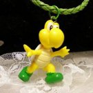 "Resin 3 D Yellow ""YOSHI Mario Character Charm Pendant Cord Necklace Kids Jewelry"