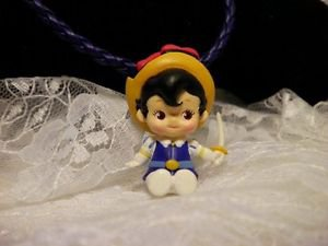 Resin 3D Boy With Hat Kewpi Doll  3 D Charm Necklace Cord Kids Jewelry