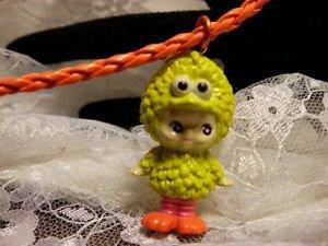 Resin 3D YELLOW Big Bird Kewpi Doll 3D Charm Corded Necklace Kids Jewelry