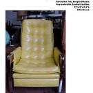 1960's RETRO YELLOW AND WOOD RECLINERS MADE IN NY.