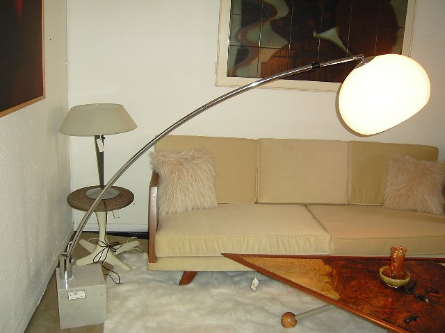 Italian Arc lamp with solid Marble base.