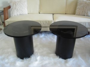 Black Metal and Glass Cocktail table.