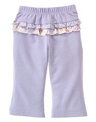 Love is in the Air Mixed Print Ruffle Knit Pant 3T EUC