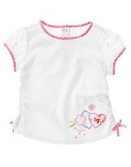 Love is in the Air Eyelet Lace Sleeve Tee sz 2T