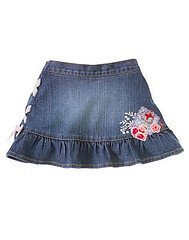 Love is in the Air Lace Up Ribbon Denim Skort s 2T