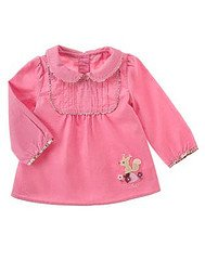 Pretty In Plums Pink Corduroy Squirrel Top sz 2T EUC