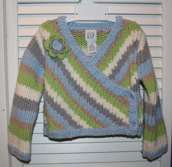 Gap striped sweater EUC 18-24 mo