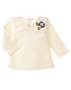 $5.00 EUC Chelsea Girl Teel Twig Snow Ivory Long Sleeve Corsage 12-18 mo