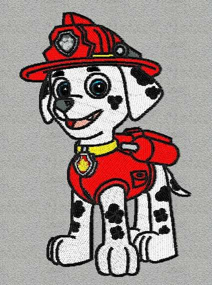 Marshall Paw Patrol Embroidery Design
