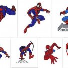 Spiderman Spider-man 7 embroidery patterns Digitized Machine Embroidery Designs Pack