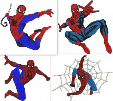 Spiderman 4 Digitized Machine Embroidery Designs  Machine Embroidery Design Pack