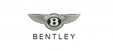 Bentley Car Emblem 3 sizes Digitized Machine Embroidery Design EMAIL DELIVERY
