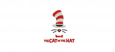 Cat in the Hat 4 Sizes Included Digitized Machine Embroidery Design Email Delivery Only