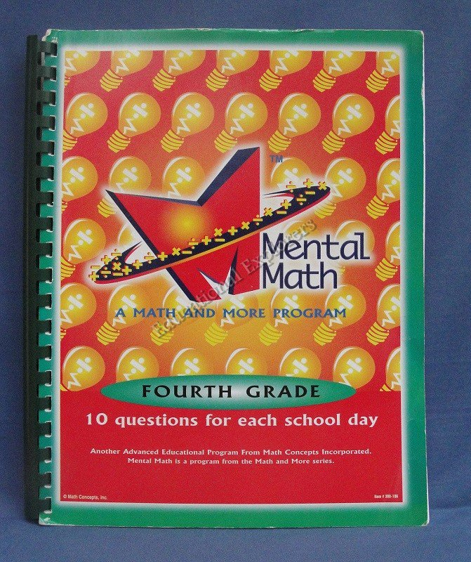 Mental Math Fourth Grade A Math and More Program