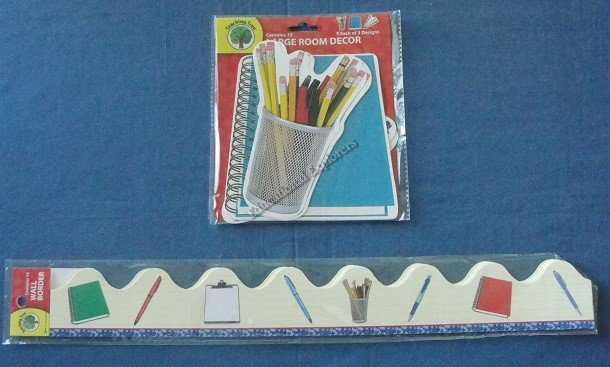 Pens Pencils Notebook Wall Border and Large Room Decor Teaching Suppies Bulletin