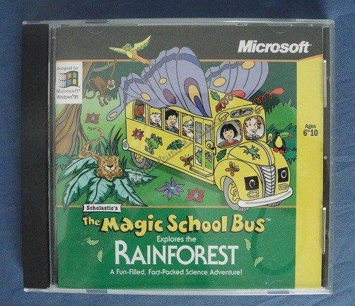 Magic School Bus Explores the Rainforest Game CD