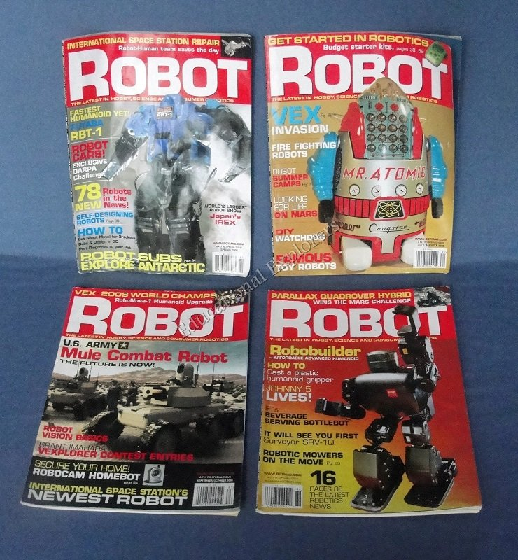 Robot Magazines Robotics Spring July/August September/October November/December 2008