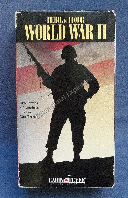 Medal of Honor World War II Cliff Robertson America's War Heroes  VHS