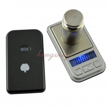 200g x 0.01g Mini Pocket Gram Carat Scale Portable Digital Jewelry Gem Balance, Free Shipping