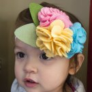 Newborn/Toddler Headband Triple Rosebud