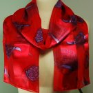 Silk Scarf  Red - Red Hatter Scarf