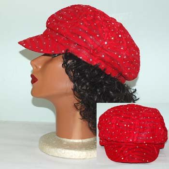 GLITTER NEWSBOY CAP