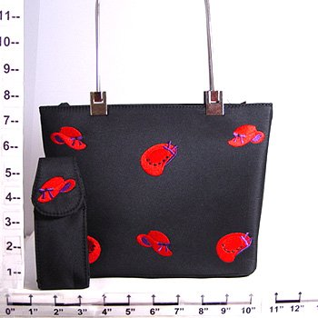 Embroid Red Hat Purse