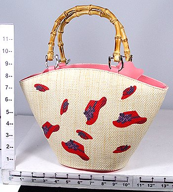 Straw Red Hatter Purse
