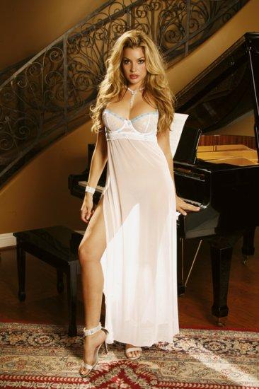 Elegant Mesh Gown