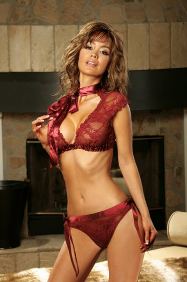 Lace Top and Panty Set   Item 5028