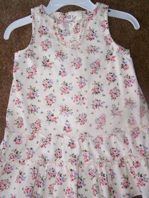 Old navy cream floral corduroy dress   EUC   $3