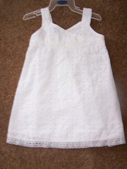 Old Navy white eyelet  dress EUC   $3