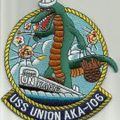USS UNION AKA 106 ATTACK CARGO SHIP MILITARY PATCH GATORS