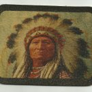 LEATHER NATIVE AMERICAN INDIAN CHIEF MOTORCYCLE JACKET VEST BIKER PATCH