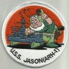 USS JASON ARH-1 HEAVY HULL REPAIR SHIP MILITARY PATCH (WWII - 1957)