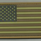 USA AMERICAN FLAG DESERT TACTICAL COMBAT BADGE MORALE PVC VELCRO MILITARY PATCH