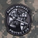 PROTECT US SAINT MICHAEL - SWAT - TACTICAL BADGE MORALE VELCRO MILITARY PATCH