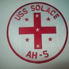 USS  SOLACE  AH-5  HOSPITAL SHIP MILITARY  PATCH