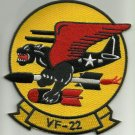 US NAVY VF-22 Aviation Fighter Squadron Twenty Two Military Patch BLACK PANTHERS