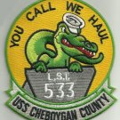 US NAVY USS CHEBOYGAN COUNTY LST 533 Tank Landing Ship Military Patch GATOR