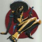 LICENSED ALMERA CHICA PELIGROSA PIN UP HOT ROD PSYCHOBILLY PUNK ROCKABILLY PATCH