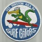 USS WINSTON AKA 94 ATTACK CARGO SHIP MILITARY PATCH SURF GATORS