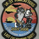 VF-31 TOMCATTERS LAST CAT STANDING BABY! CVN-71 05-06 FELIX MILITARY PATCH