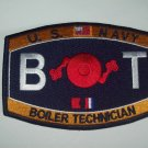 "US NAVY ""BOILER TECHNICIAN"" MILITARY RATING PATCH  -  BT"