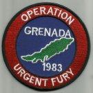 "OPERATION URGENT FURY GRENADA 1983 BIKER MOTORCYCLE MILITARY PATCH   4"""