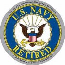 UNITED STATES NAVY RETIRED MILITARY CAR VEHICLE WINDOW DECAL PATRIOTIC STICKER